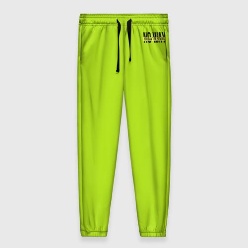 Женские брюки 3D Serious зеленый брюки