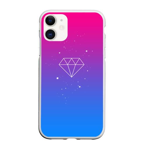 Чехол для iPhone 11 матовый Diamond