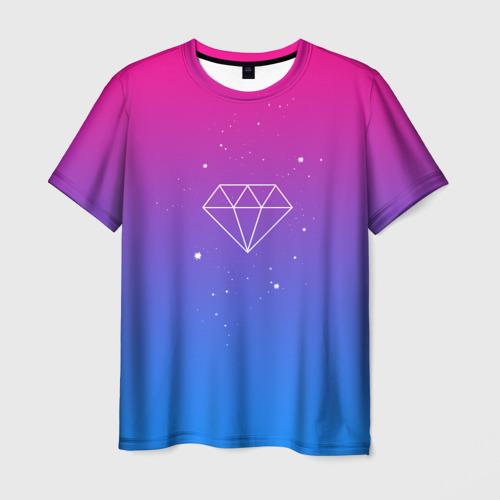 Мужская футболка 3D Diamond