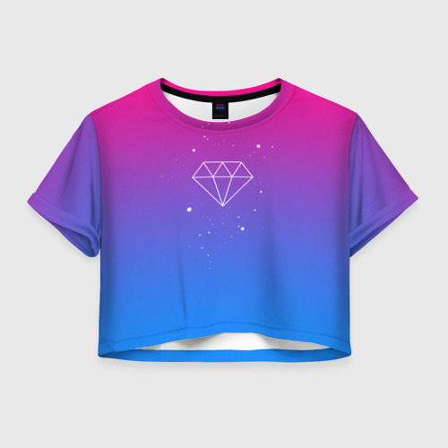 Женская футболка Crop-top 3D Diamond