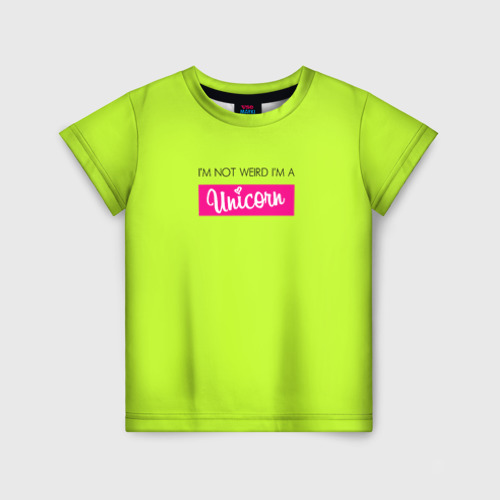 Детская футболка 3D Unicorn желтый