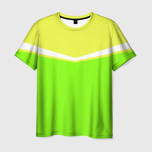 Мужская футболка 3D Угол зеленый