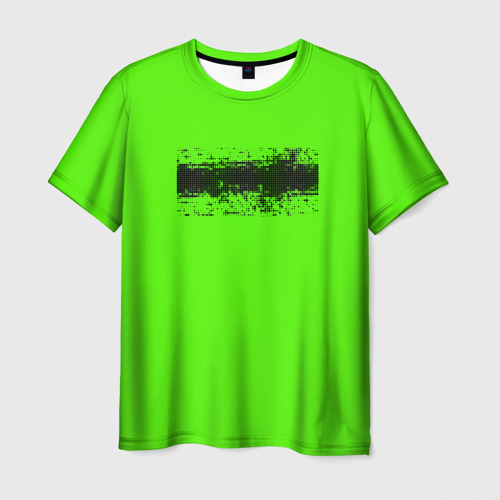 Мужская футболка 3D Гранж зеленый