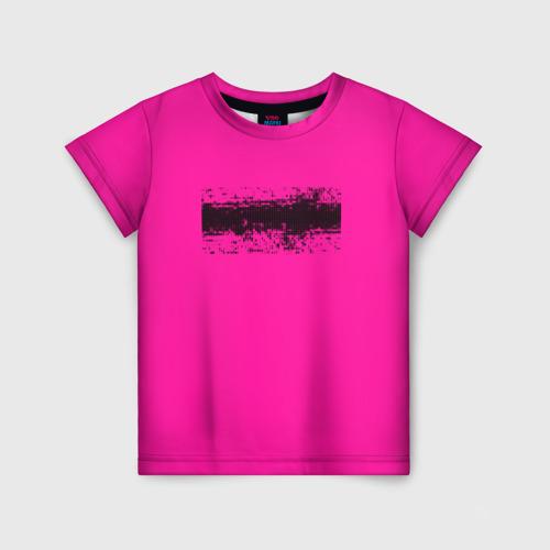 Детская футболка 3D Гранж розовый