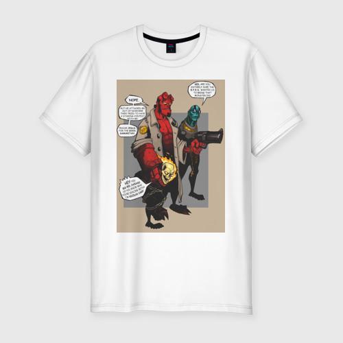 Мужская футболка хлопок Slim hellboy