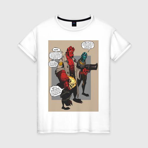 Женская футболка хлопок hellboy