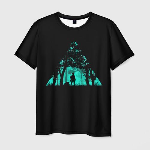 Мужская футболка 3D Таинственный лес