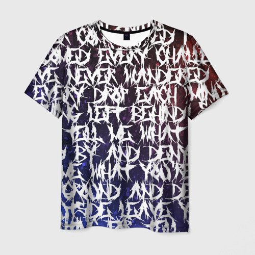 Мужская футболка 3D Art of words