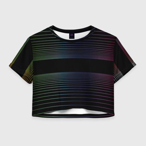 Женская футболка Crop-top 3D Полоски