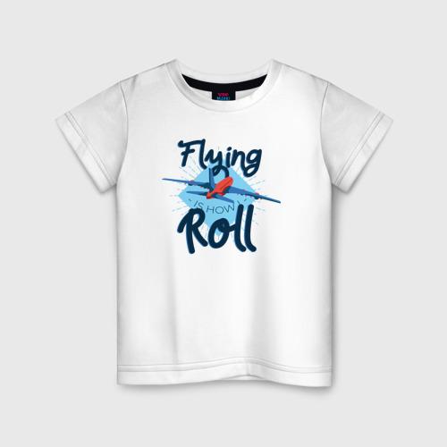 Детская футболка хлопок Полет