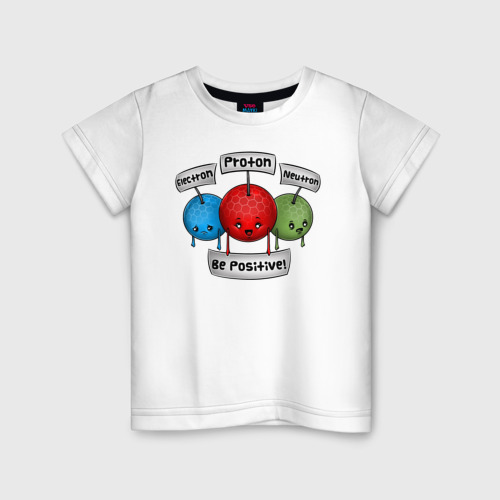 Детская футболка хлопок Be positive!
