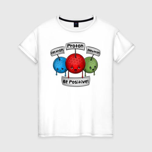 Женская футболка хлопок Be positive!