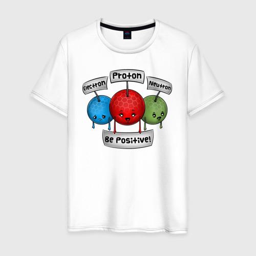 Мужская футболка хлопок Be positive!