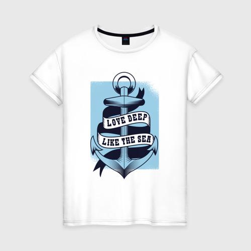 Женская футболка хлопок Якорь