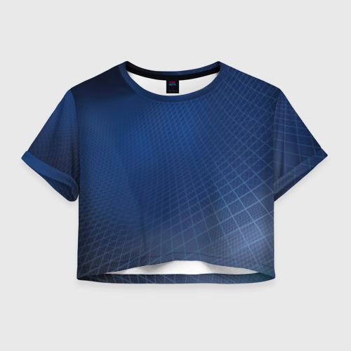 Женская футболка Crop-top 3D Сеть