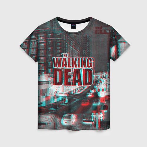 Женская футболка 3D  the walking dead glitch