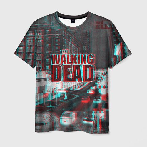 Мужская футболка 3D  the walking dead glitch