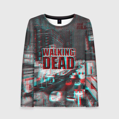 Женский лонгслив 3D  the walking dead glitch