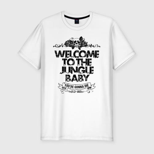 Мужская футболка хлопок Slim Welcome to the Jungle