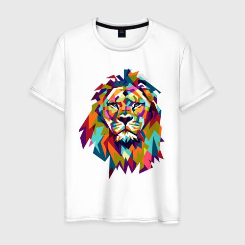 Мужская футболка хлопок Lion