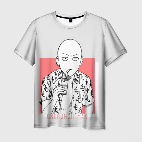 Мужская футболка 3D Saitama (One-Punch Man) Ванпач