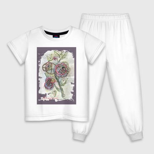 Детская пижама хлопок Механический цветок