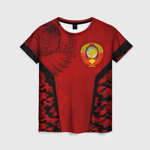 Женская футболка 3D Камуфляж СССР