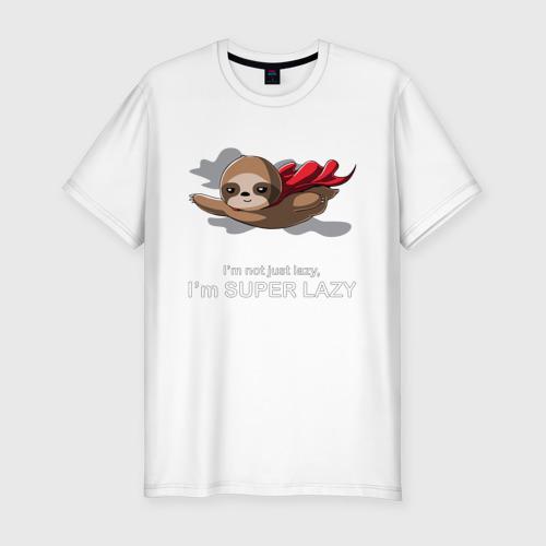 Мужская футболка хлопок Slim Супер ленивый