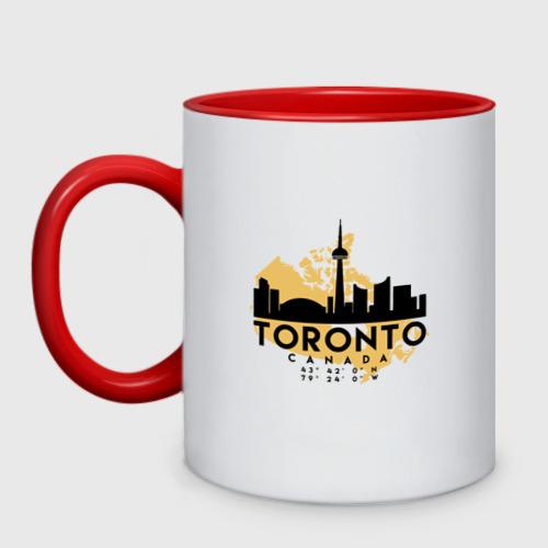 Кружка двухцветная Торонто - Канада