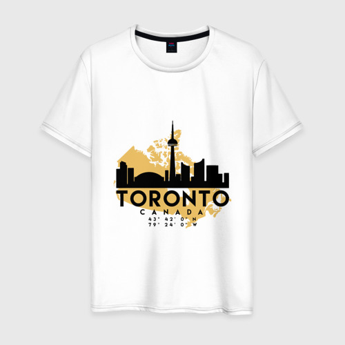 Мужская футболка хлопок Торонто - Канада