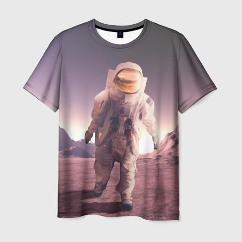 Мужская футболка 3D На Марсе