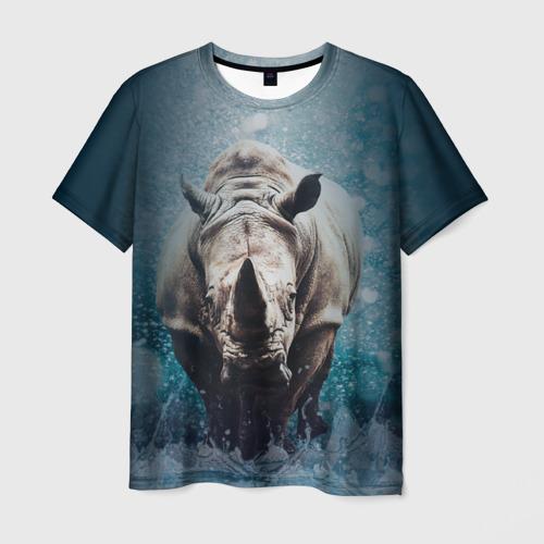 Мужская футболка 3D Носорожка