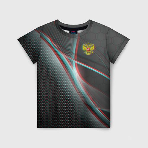 Детская футболка 3D RUSSIA.
