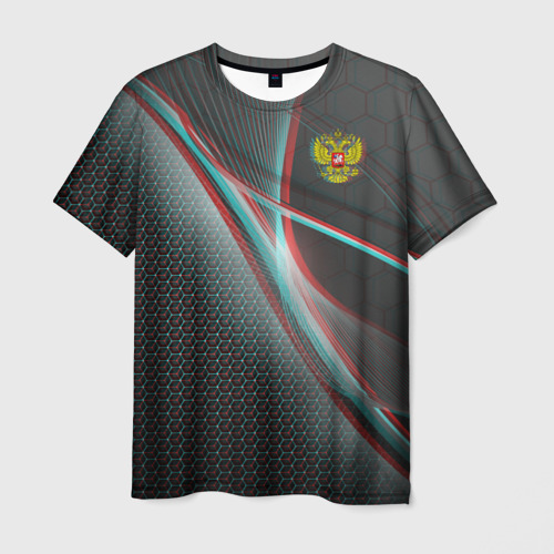 Мужская футболка 3D RUSSIA.