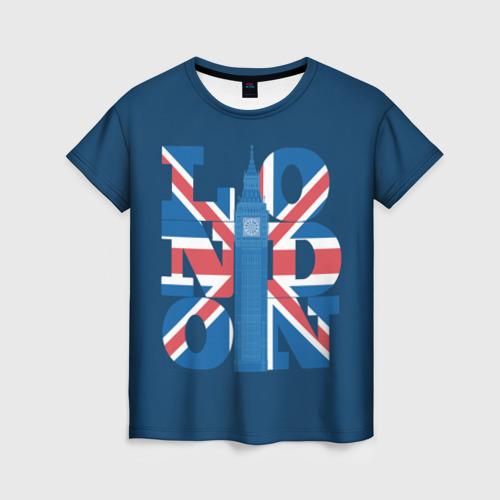 Женская футболка 3D London