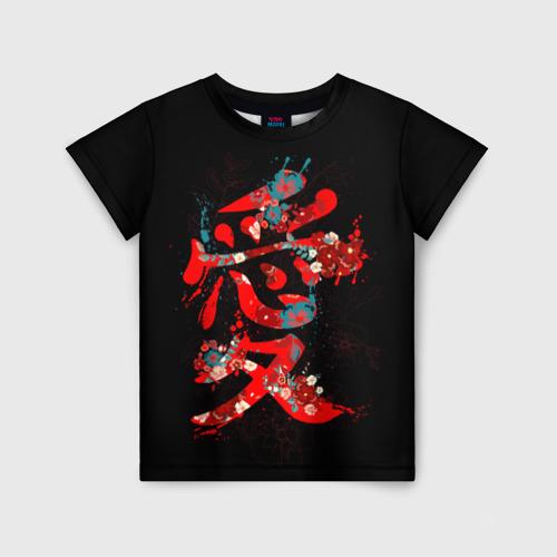Детская футболка 3D Японская любовь