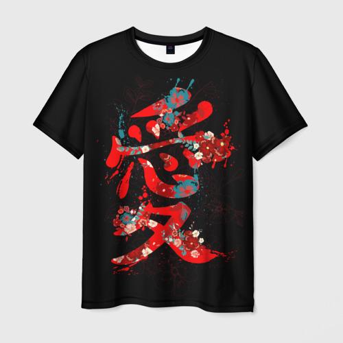 Мужская футболка 3D Японская любовь