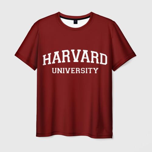 Мужская футболка 3D Harvard University_девиз