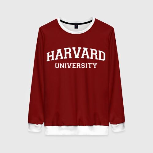 Женский свитшот 3D Harvard University_девиз