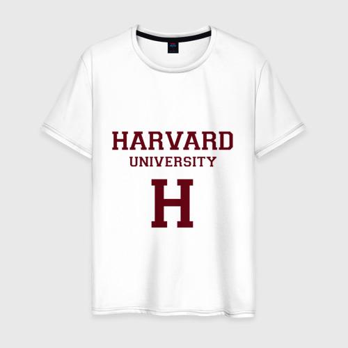 Мужская футболка хлопок Harvard University_девиз