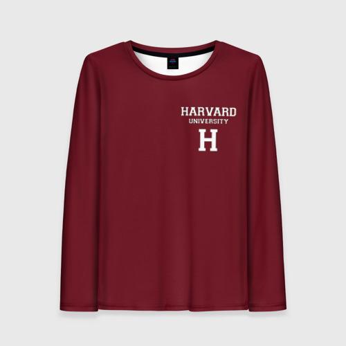 Женский лонгслив 3D Harvard University