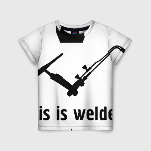 Детская футболка 3D сварщик