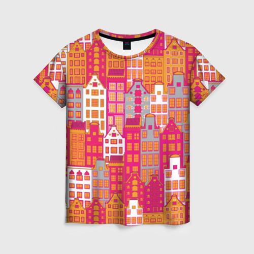 Женская футболка 3D Город