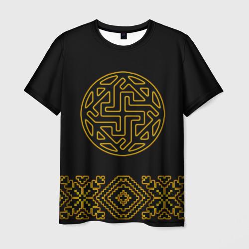 Мужская футболка 3D символ валькирии