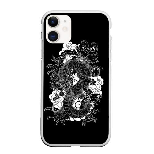 Чехол для iPhone 11 матовый Дракон