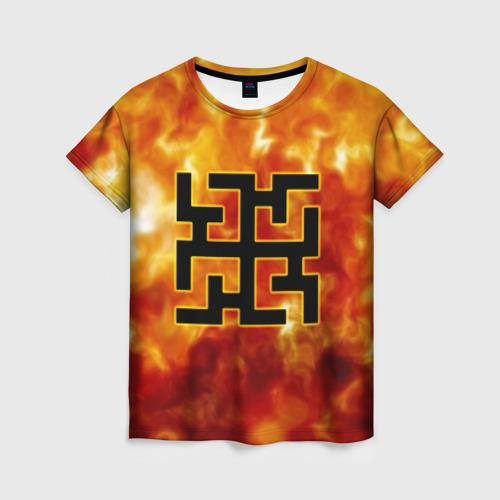 Женская футболка 3D символ духобор