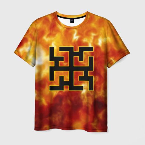 Мужская футболка 3D символ духобор