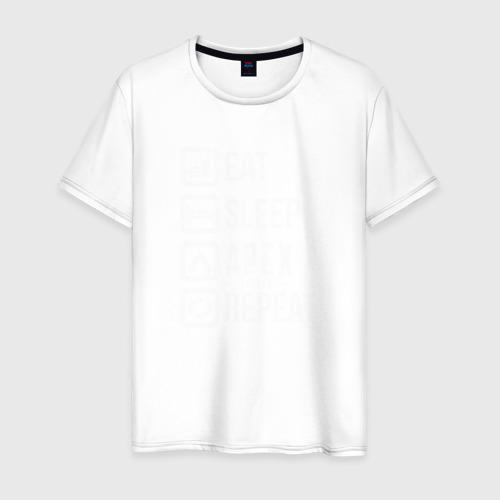 Мужская футболка хлопок EAT - SLEEP - APEX - REPEAT