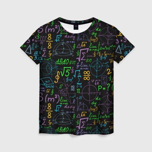 Женская футболка 3D Шпаргалка