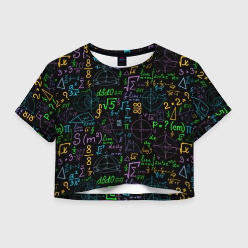 Женская футболка Crop-top 3D Шпаргалка